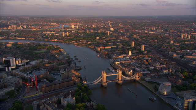 The London Bridge spans the River Thames.