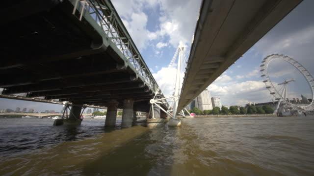 the london eye, or millennium wheel, london, uk - thames river stock videos & royalty-free footage