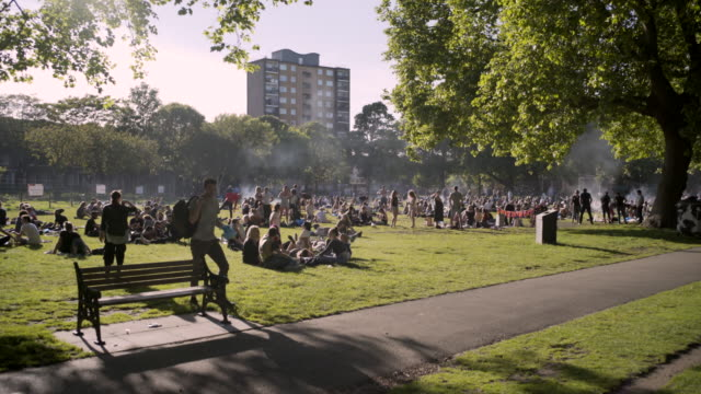 The London Fields Barbecue area.
