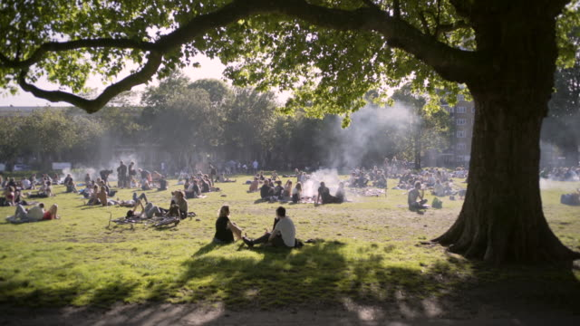 the london fields barbecue area. - hackney stock videos & royalty-free footage