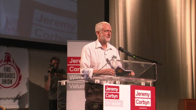 the london mayor sadiq khan condemned jeremy corbyn's leadership today and backed his rival he said mr corbyn had failed to win the british people's... - owen smith politician stock videos & royalty-free footage