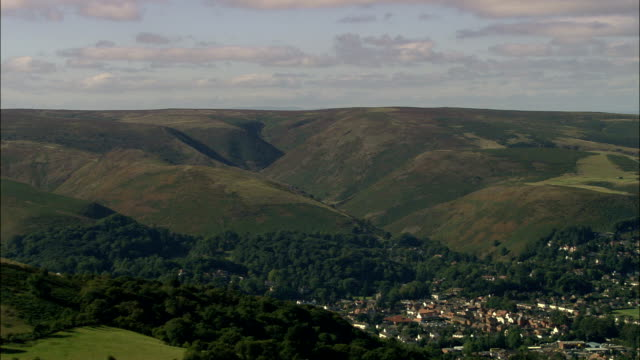 the Long Mynd And Church Stretton  - Aerial View - England, Shropshire, Church Stretton, United Kingdom