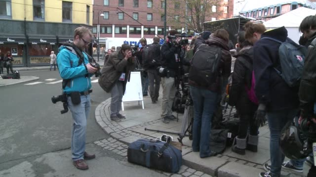stockvideo's en b-roll-footage met the longawaited trial of rightwing extremist anders behring breivik who massacred 77 people in twin attacks in norway last july opens monday with... - anders behring breivik