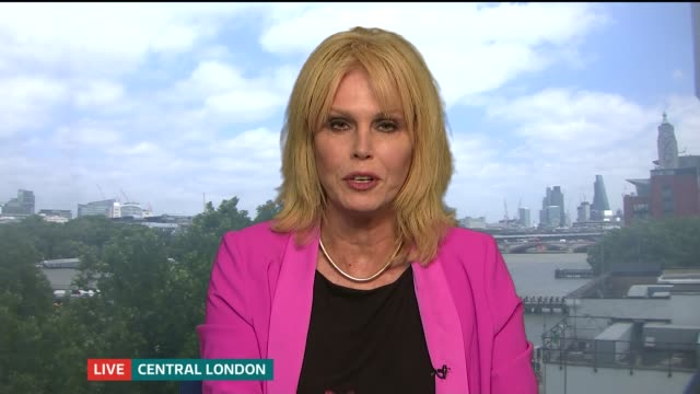 the loomba foundation report highlights the fear of isolation england london int joanna lumley live 2way interview sot - joanna lumley stock videos & royalty-free footage