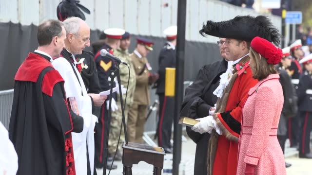 the lord mayor's show takes place in the city of london to celebrate the appointment of the 692nd lord mayor of london alderman william russell of... - lord mayor of london city of london stock videos & royalty-free footage