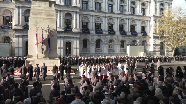 the lord's prayer at the national service of remembrance on november 10, 2019 in london, england. - praying stock videos & royalty-free footage