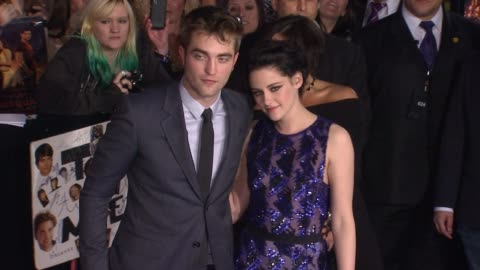 the los angeles premiere of the twilight saga: breaking dawn - part 1, los angeles, ca, united states, 11/14/11 - twilight stock videos & royalty-free footage