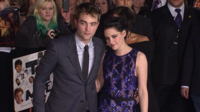 the los angeles premiere of the twilight saga breaking dawn part 1 los angeles ca united states 11/14/11 - twilight stock videos & royalty-free footage