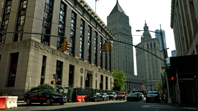 the louis j. lefkowitz state office building. centre street - courtyard stock videos & royalty-free footage