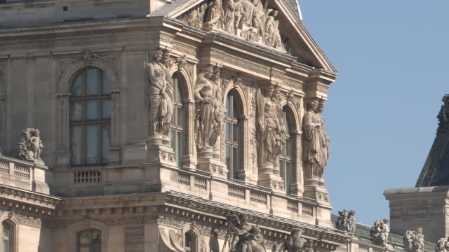 the louvre in paris - louvre stock videos and b-roll footage