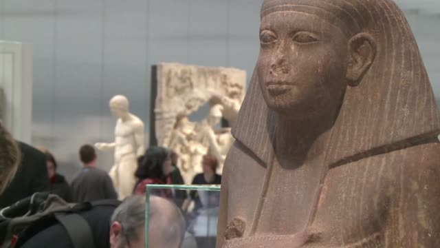 the louvre museum in france's northern town of lens celebrates its 1000th visitor after it opened its doors late in 2012 clean france's louvre... - lens pas de calais stock videos & royalty-free footage
