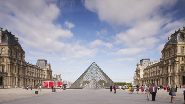 the louvre museum in paris, france. - louvre stock videos and b-roll footage