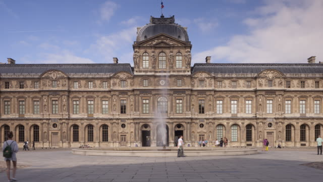 the louvre museum in paris, france - louvre stock videos and b-roll footage