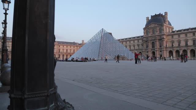 the louvre, paris, france, europe - louvre stock videos and b-roll footage