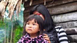 The Love of Indigenous Brazilian Sisters from Tupi Guarani Ethnicity