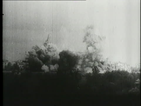the luftwaffe attacks poland. - explosive stock videos & royalty-free footage