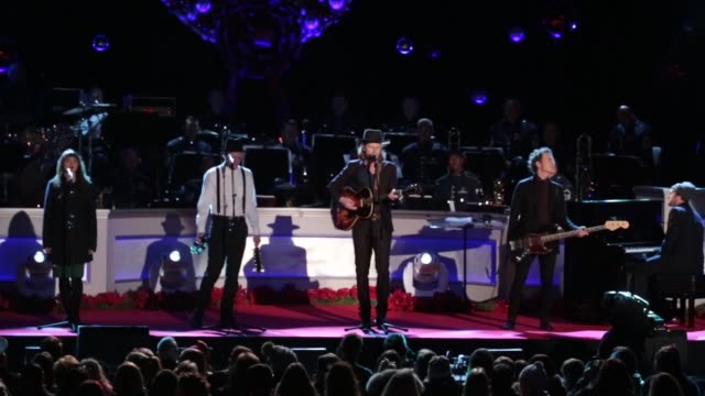 the lumineers perform at the 94th annual national christmas tree lighting ceremony at the ellipse near the white house in washington on december 1... - christmas tree lighting ceremony stock videos & royalty-free footage