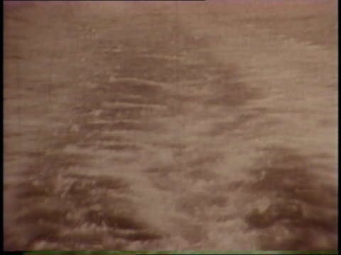the lusitania sinks, hit by a german submarine torpedo, changing american public opinion. - world war one stock videos & royalty-free footage