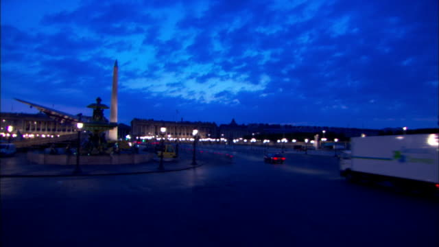 the luxor obelisk stands in the middle of paris, france. - obelisk of luxor stock videos & royalty-free footage