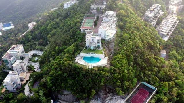 the luxury house at the peak of hong kong - stately home stock videos & royalty-free footage