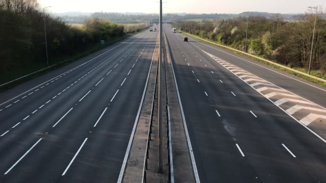 the m5 motorway which runs from worcester to bristol with sparse traffic during rush hour on friday - simplicity stock videos & royalty-free footage