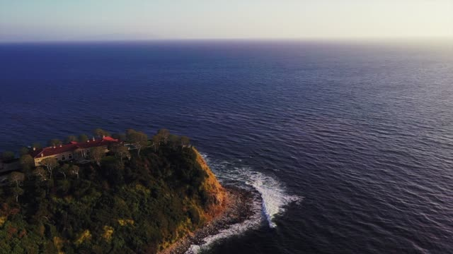 the magic castle by the sea - palos verdes stock videos & royalty-free footage