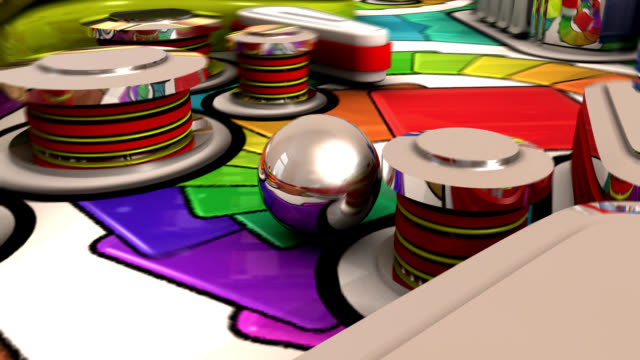 the magic game of pinball - leisure games stock videos & royalty-free footage