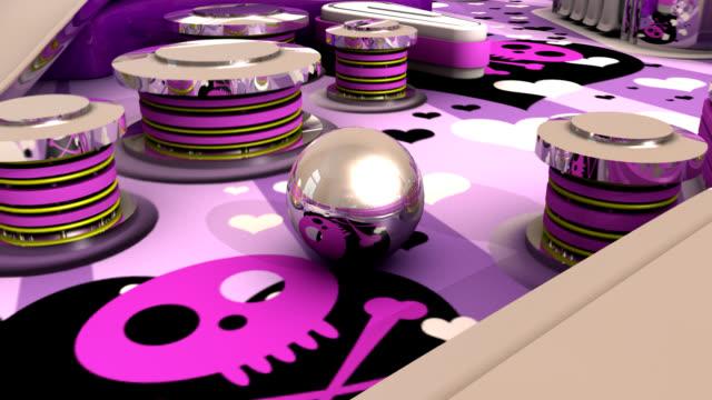 the magic game of pinball - pinball machine stock videos & royalty-free footage