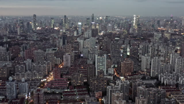 the magnificent sunset glow over shanghai city - east china stock videos & royalty-free footage