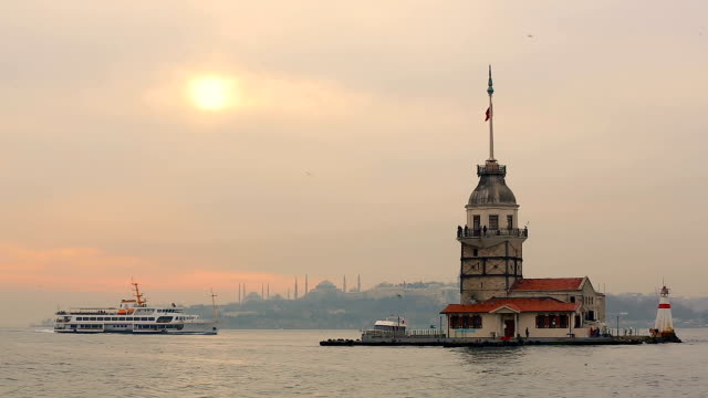 the maiden's tower - turkish culture stock videos and b-roll footage
