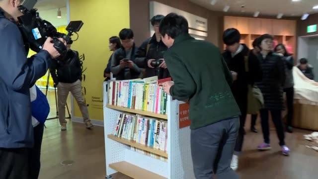 the main library of seoul removes an exhibition in honour of ko un who is regularly tipped for the nobel prize in literature but has been accused of... - nobel prize in literature stock videos & royalty-free footage