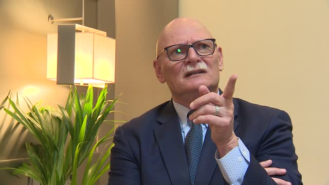 the main responsible for the organization of the mobile world congress barcelona, john hoffman, poses during an interview for europa press, on april... - big data stock videos & royalty-free footage