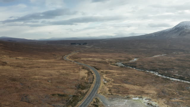 the main road running through glen coe and rannoch moor. - national park stock videos & royalty-free footage
