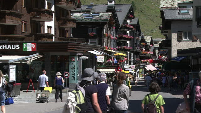 The main street of Zermatt, Switzerland
