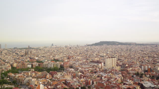 La majestuosa vista de Barcelona.