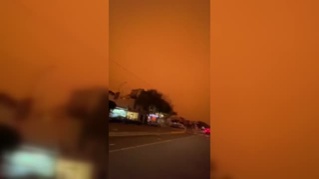 the major metropolitan city of san francisco saw the sky turn orange due to more than two dozen wildfires close to the bay area strong winds may... - oregon us state stock videos & royalty-free footage