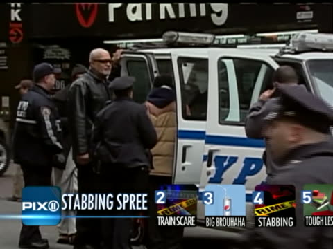 the maksim gelman stabbing spree was a 28hour killing spree lasting from february 11 to 12 in new york city which involved the killing of four people... - bahnreisender stock-videos und b-roll-filmmaterial
