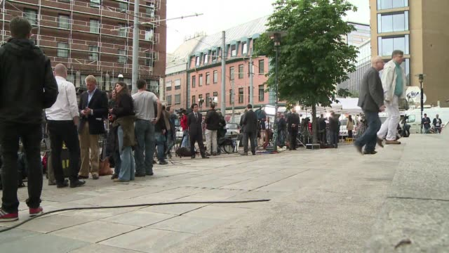 stockvideo's en b-roll-footage met the man accused of killing 93 people in a bombing and shooting spree was to make his first appearance monday before a court in oslo as norway falls... - anders behring breivik
