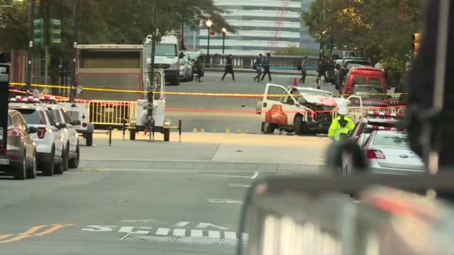 the man who drove his pickup truck down a crowded new york bike path killing eight people left a note claiming allegiance to the islamic state group... - assertiveness stock videos & royalty-free footage