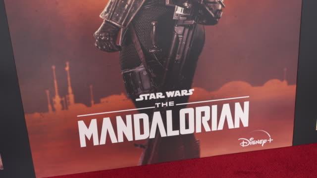 "the mandalorian"" world premiere on november 13, 2019 in hollywood, california. - 雰囲気点の映像素材/bロール"