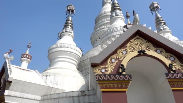 the manfly tower in the scenic area of lingshan - tornspira bildbanksvideor och videomaterial från bakom kulisserna