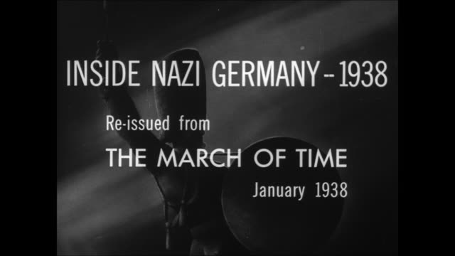 the march of time episode opening title card inside nazi germany - 1938 stock videos & royalty-free footage
