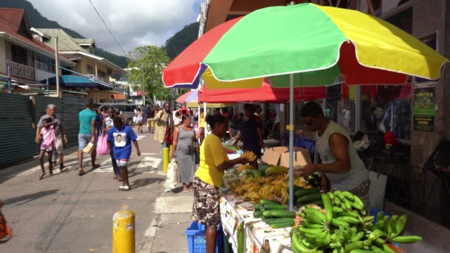 the market is in victoria the capital of seychelles - seychelles stock videos & royalty-free footage