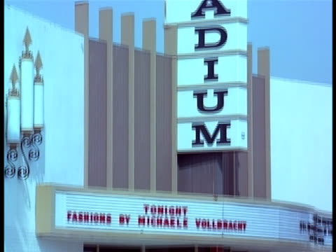 The marquees at Hollywood's Palladium Theater indicates the fare.