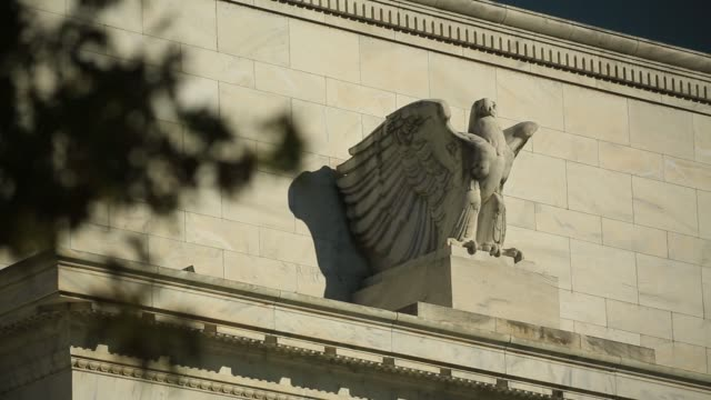 The Marriner S Eccles Federal Reserve building's eagle statue stands in Washington DC US on Friday Nov 17 2017 Photographer Andrew Harrer � Shots...