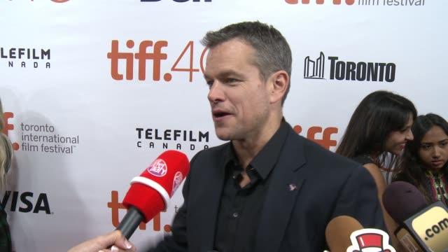 CHYRON 'The Martian' Premiere 2015 Toronto International Film FestivalRidley Scott Matt Damon Jessica Chastain Kate Mara Jeff Daniels Chiwetel...