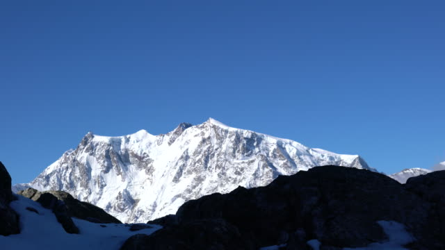 The massif of Monte Rosa, between Italy and Switzerland