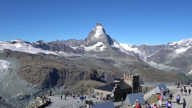 vídeos y material grabado en eventos de stock de the matterhorn, view from gornergrat - astronomie