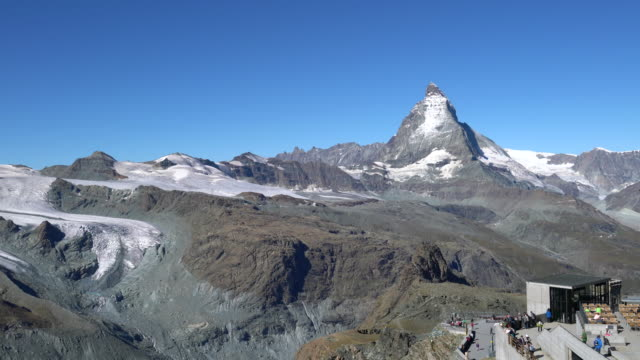 the matterhorn, view from gornergrat - astronomie stock videos & royalty-free footage