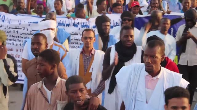the mauritanian opposition marches in nouakchott the mauritanian capital to demand its participation in the supervision of the 2019 presidential... - nouakchott stock videos & royalty-free footage